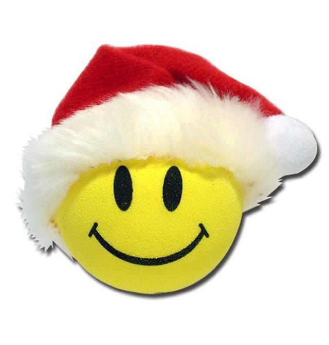 画像: Amazon | アンテナボール【Happy Santa】ハッピーサンタ/アンテナトッパー/ハッピーフェイス/クリスマス | ラジオアンテナ | 車&バイク 通販