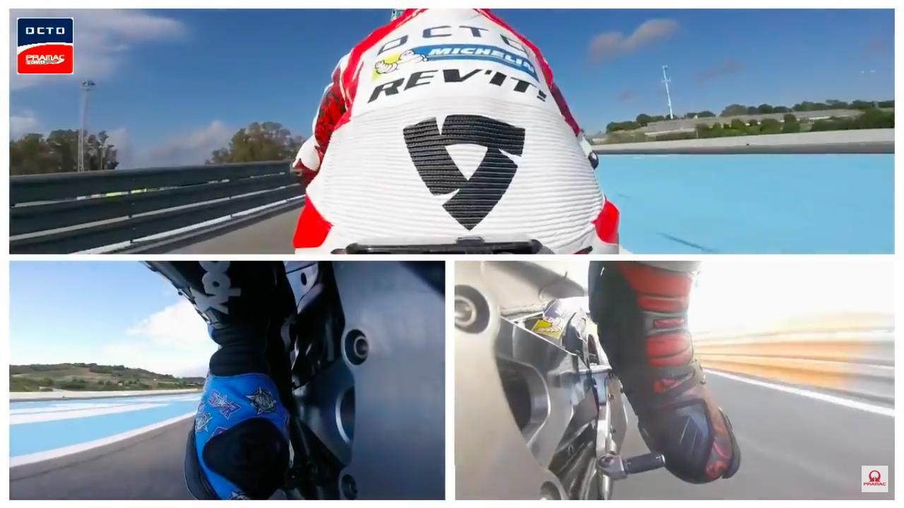 画像: このように3分割で、ペダル類の操作や体重移動の様子を見ることができます・・・。 www.youtube.com