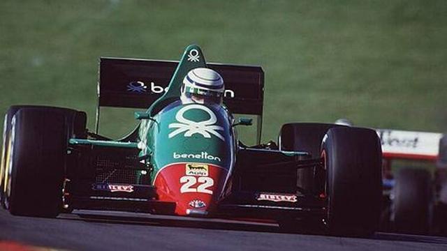 画像: リカルド・パトレーゼの駆るベネトンチーム アルファロメオ 1985年 www.gazzetta.it
