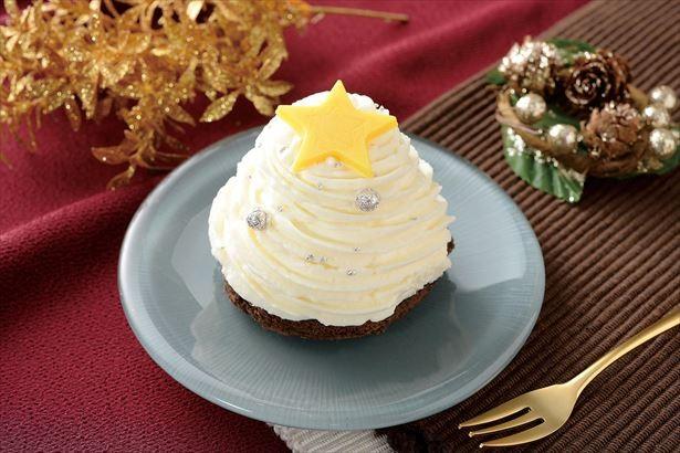 画像: ココアスポンジにホイップクリーム。中には食感の良いジャンデューヤが入った「白いクリスマスツリーのケーキ☆」 320円(税込) www.lawson.co.jp