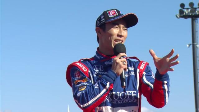 画像: 今年、日本人として初めてインディ500を制覇するという偉業を成し遂げた佐藤琢磨も参加! デモ走行を披露してくれました。 www.youtube.com