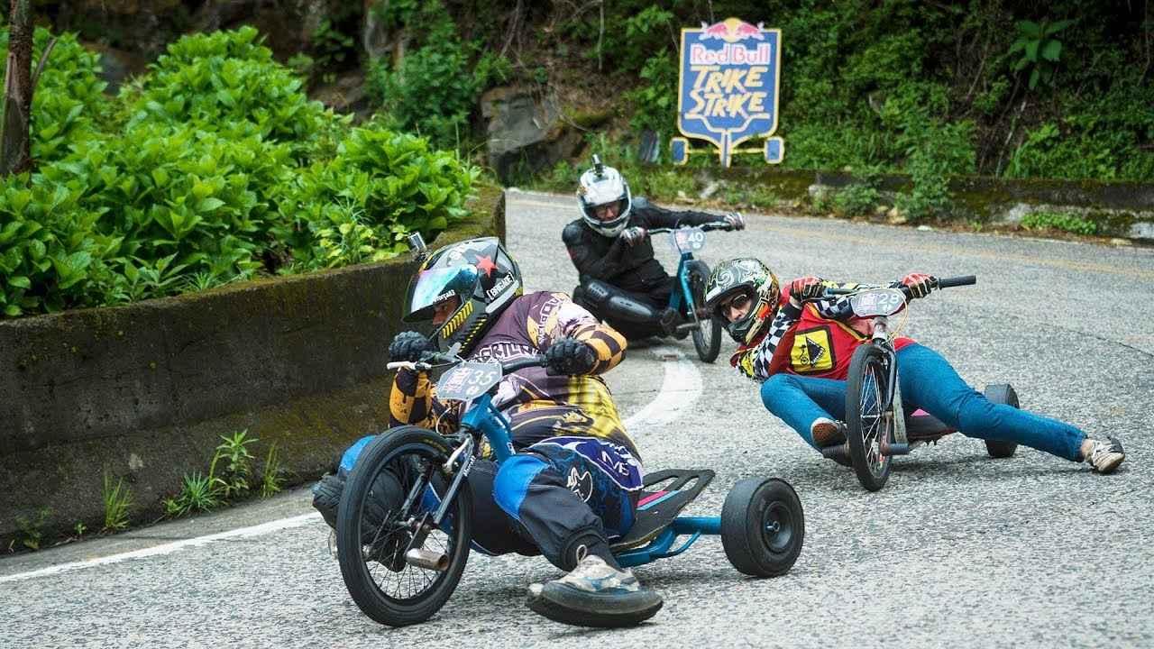 画像: 40 athletes, 20 switchbacks, 4 kilometers. This is Red Bull Trike Strike. www.youtube.com