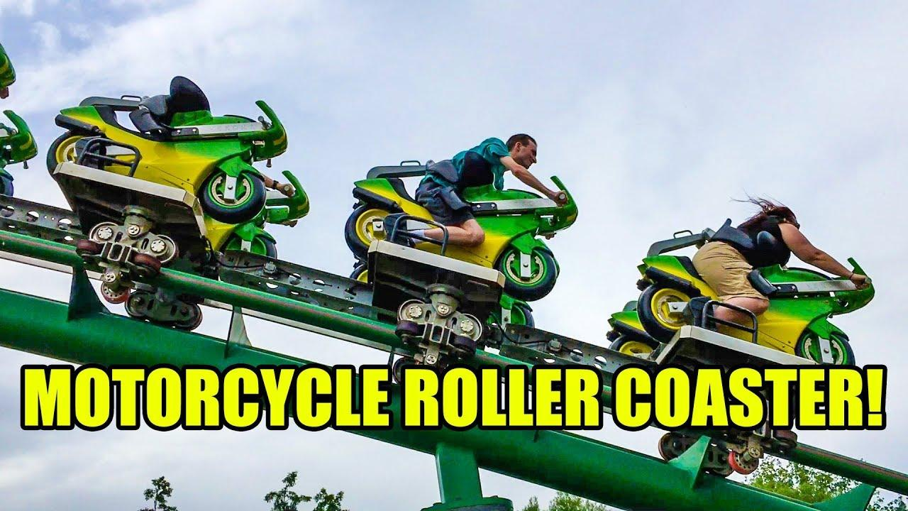 画像: Motorcycle Themed Roller Coaster Multi Angle POV Booster Bike Toverland Netherlands youtu.be