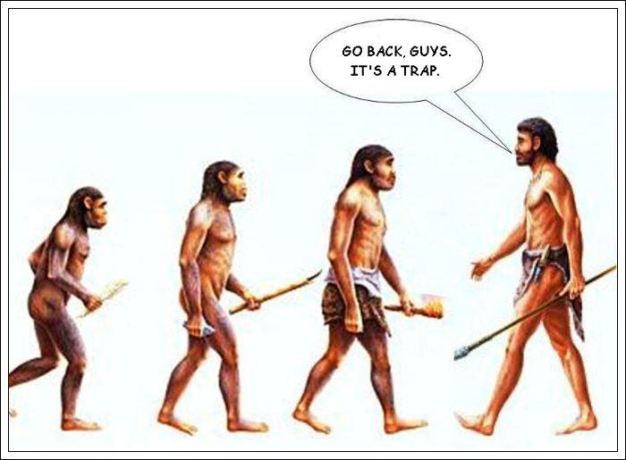 画像: 進化の道には罠もある www.ebaumsworld.com