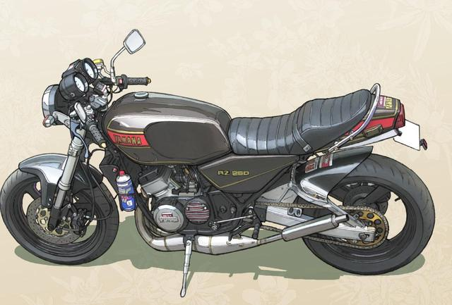 画像3: 会社に隠れてバイク通勤をする野崎の愛車はYAMAHA RZ250