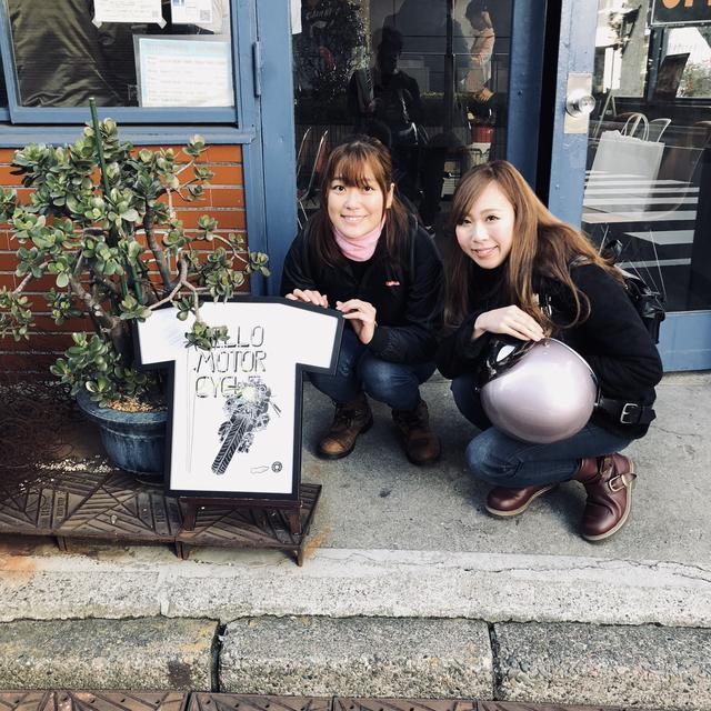 画像: RIDE集会でもおなじみの国友愛佳ちゃん(左)とAkiko記者。 愛佳ちゃんはロレンス編集部でアルバイトをしていたこともあるのだ!