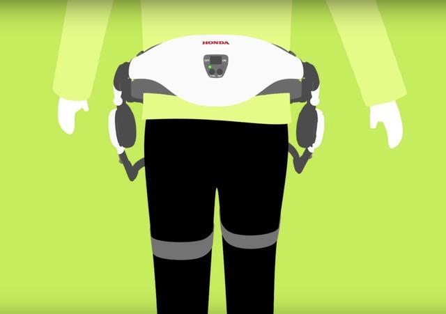 画像: 腰に装着するのですが、案外小ぶりで安心します。 www.honda.co.jp