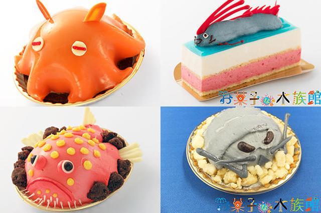 """画像: カナロアカフェでは、Patisserie Swallowtail(パティスリースワロウテイル)が展開するブランド""""お菓子な水族館""""とコラボレーションしたスイーツが楽しめます☆ www.enjoytokyo.jp"""