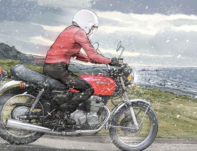 画像: 荒れに荒れた雪の日。ヨンフォアのお姉さんに恋をした。『The Stormy Weather』 - LAWRENCE - Motorcycle x Cars + α = Your Life.