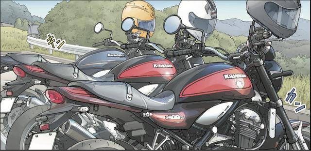 画像: 3人、同じ日に同じバイクを買ったことが縁で、こうして走りに来ている。
