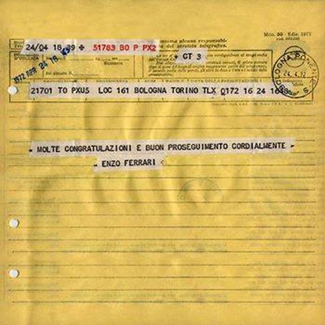 画像: イモラ200勝利の祝電を、E.フェラーリはドゥカティ社宛に送っていました。 www.facebook.com