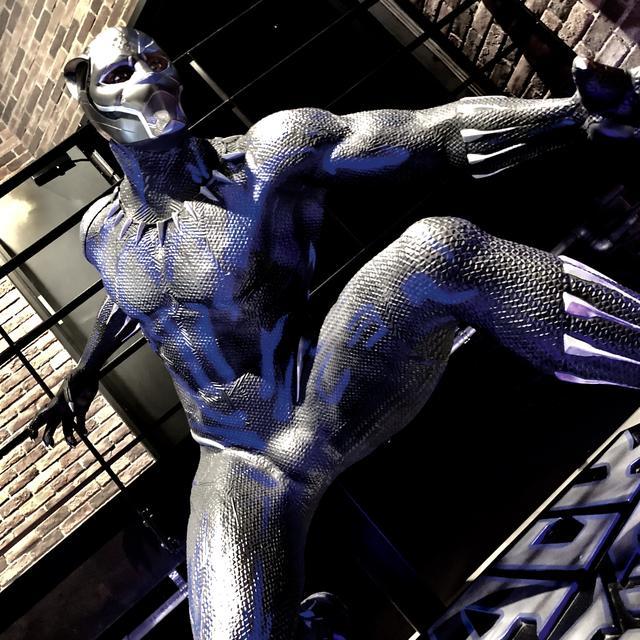 画像: 試写会会場では、実物大?のブラックパンサーがダイナミックなポーズで周囲を威嚇
