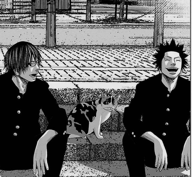 画像: 学校帰りの意味のない会話に興じる二人の男子高校生内海想(左)と瀬戸小吉(右)