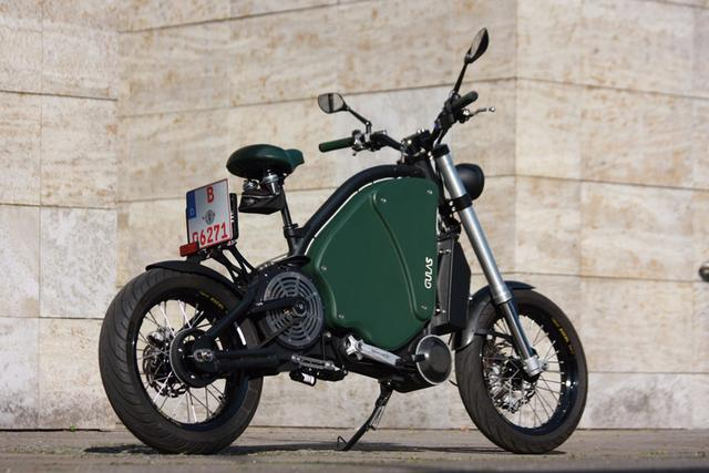 画像: the gulas PI1S is a pedal electric motorcycle with 200 km battery range