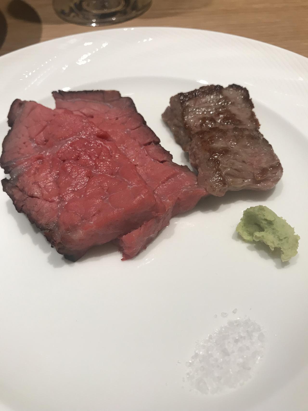 画像: 熊本県産あか牛ロース肉の鉄板焼き