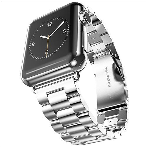 画像: Apple Watchに、「Oittm」のステンレススチールバンドの組み合わせ・・・これならスーツでも浮かない・・・かな? www.igeeksblog.com