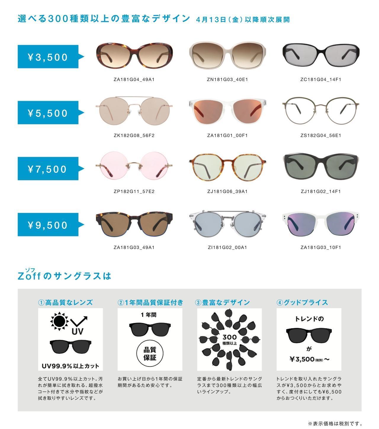 画像: Zoffのサングラスコレクションで誰もがカンタンに変身できる! ファッションアイテムにおひとついかが?