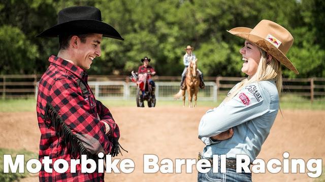画像: HORSEPOWER SHOWDOWN: Marc Marquez barrel racing against Jackie Ganter youtu.be