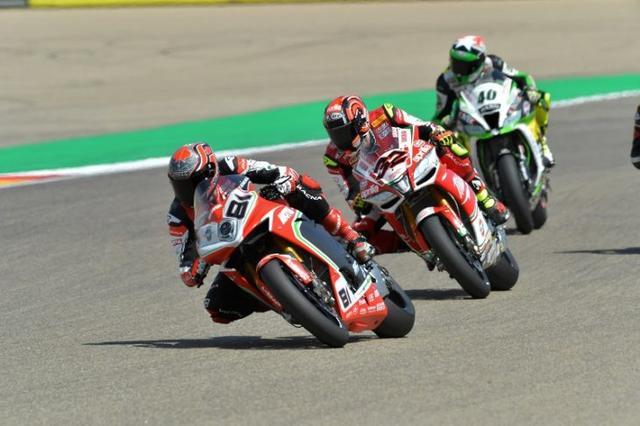 画像: SBKアラゴン・レース1で8位になったジョルディ・トーレスとMVアグスタF4(ゼッケン81)。 www.motorcycledaily.com