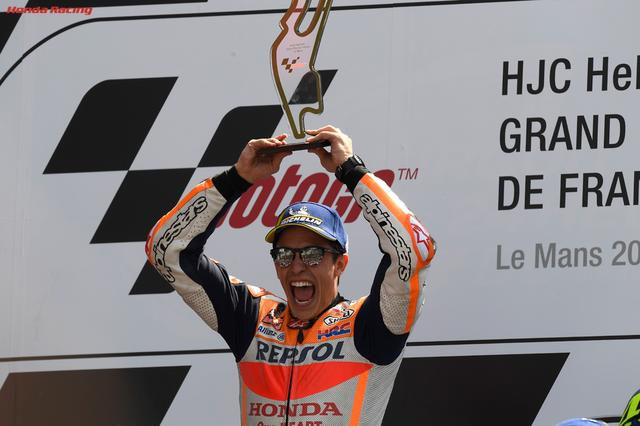 画像: 余裕のレース展開で3連勝を決めたM.マルケス(ホンダ)。 www.honda.co.jp