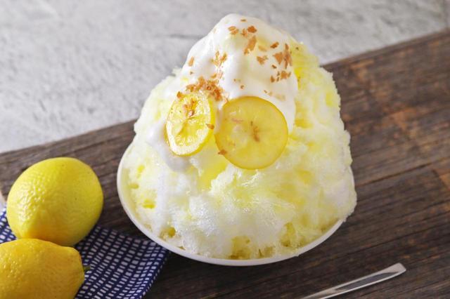 画像: 「瀬戸内レモンとミルクのふわとろかき氷」830円