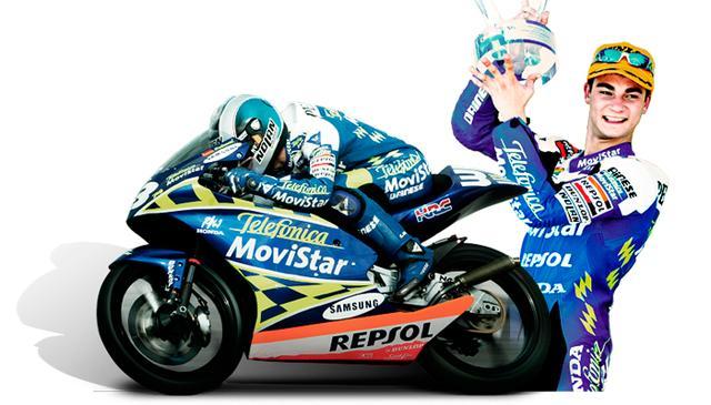 画像: 2003年、ホンダで初タイトル(125cc)を獲得した、若き日のD.ペドロサ。 www.boxrepsol.com
