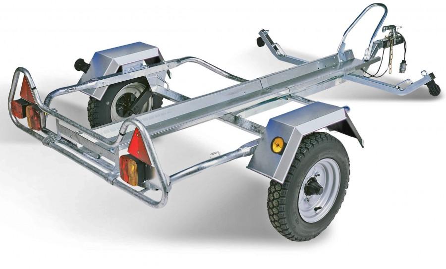 画像: 2輪積載用のトレーラー。汎用タイプのトレーラーで、ボートやパーソナルウォータークラフト、そしてスノーモビルなど、季節ごとの「遊び」に活用する多趣味な方もいらっしゃりますね。 www.towsure.com
