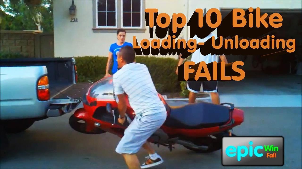 画像: Epic Win/Fail HD Compilation - Top 10 Bike Loading Unloading Fails youtu.be