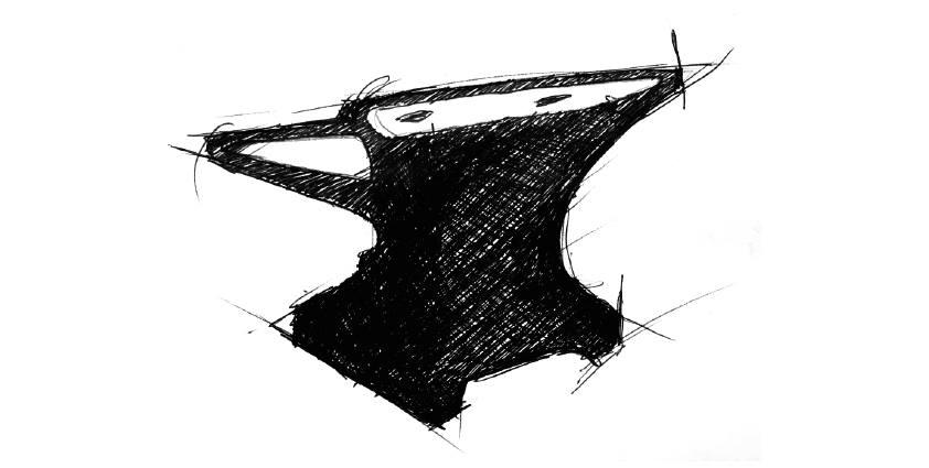 画像: Anvilとは金属を鍛える時に材料をのせて叩くための鉄製の台 http://www.anvilmotociclette.com/story/