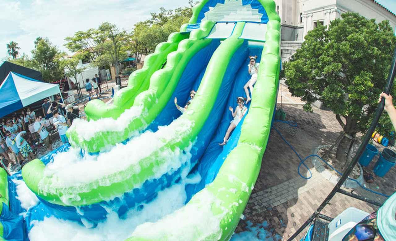 画像: 高さ6mから泡にダイブ!!大人気コンテンツ「泡スライダー」