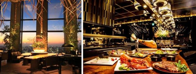 画像: 「SHIZUKU LOUNGE」からのサンセットビュー イメージ(左)、 SVIP SEAT スペシャルサンセットディナー(右)
