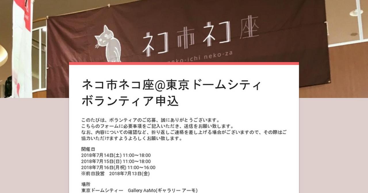 画像: ネコ市ネコ座@東京ドームシティ ボランティア申込