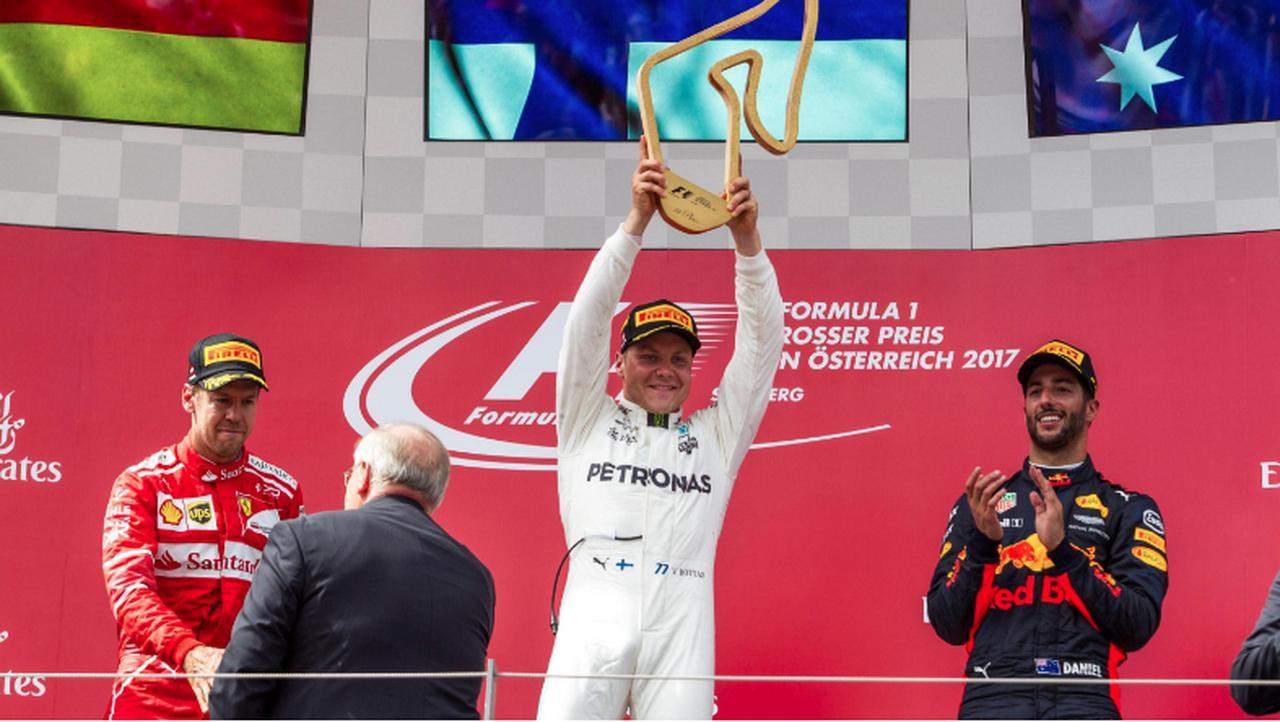 画像: 2017年のオーストリアGPを制したのはメルセデスのバルテリ・ボッタス www.formula1.com