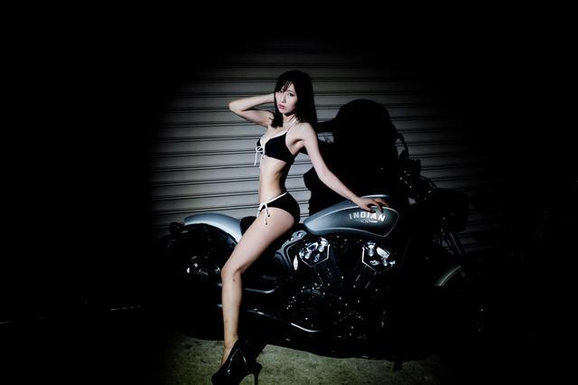 画像3: 【Beauty & Bike】璃彩と澪とインディアン vol.08