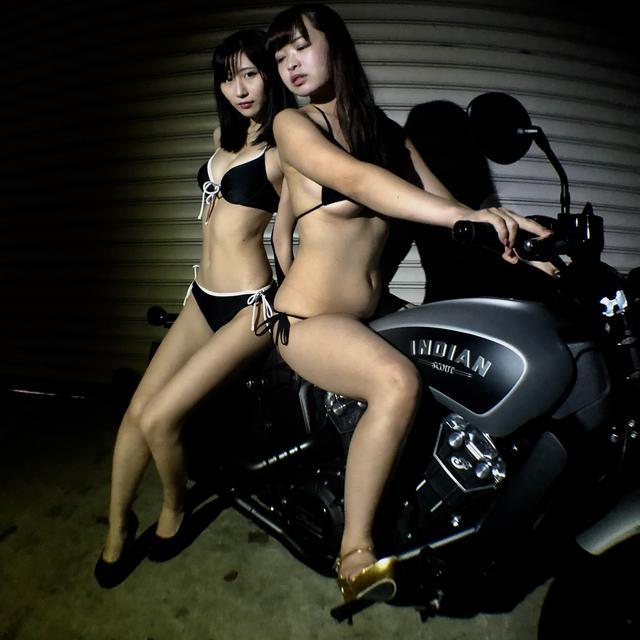 画像1: 【Beauty & Bike】璃彩と澪とインディアン vol.19