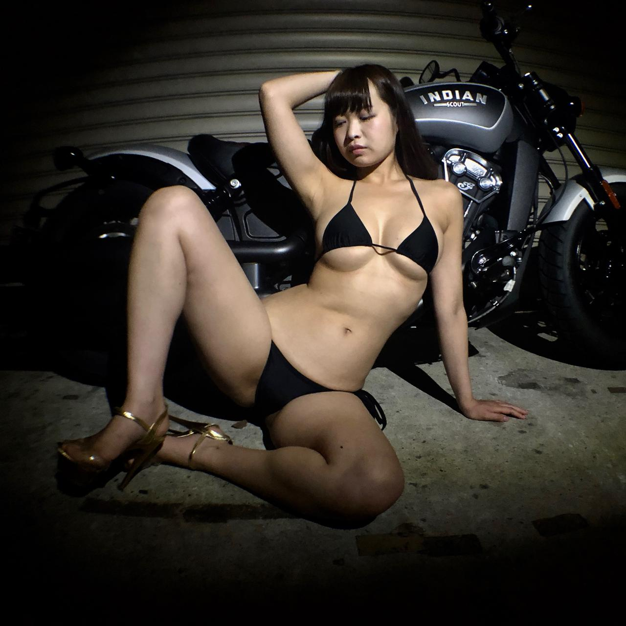 画像1: 【Beauty & Bike】璃彩と澪とインディアン vol.21