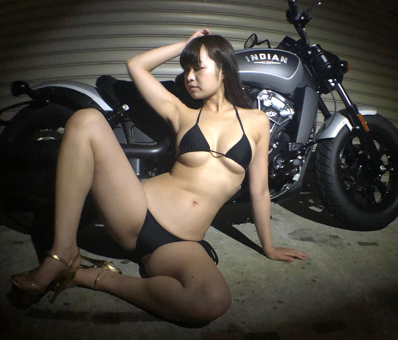 画像2: 【Beauty & Bike】璃彩と澪とインディアン vol.21