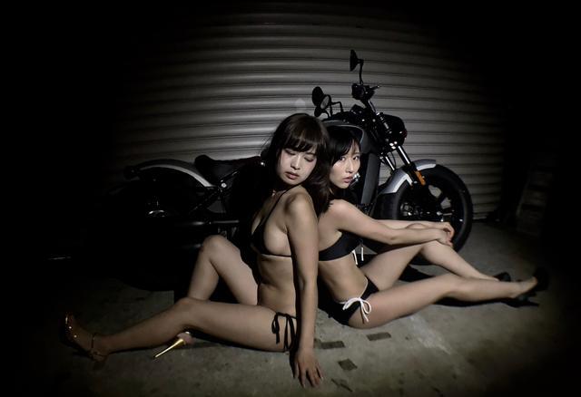 画像1: 【Beauty & Bike】璃彩と澪とインディアン vol.23
