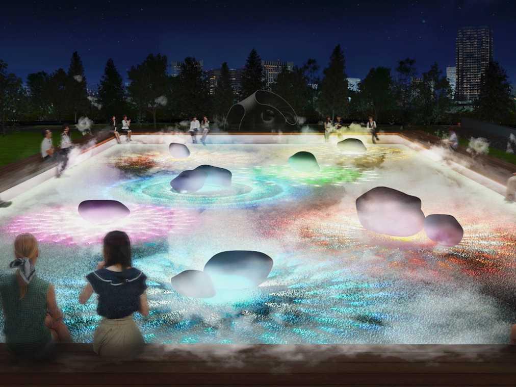 画像: 『光と霧のデジタルアート庭園』イメージ www.tokyo-midtown.com