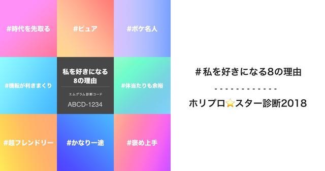 画像: ホリプロ★スター診断2018