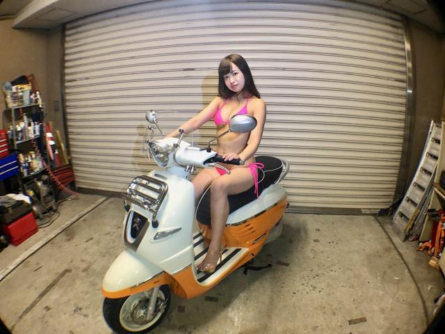 画像1: 【Beauty & Bike】璃彩と澪とプジョー ジャンゴ Vol.01