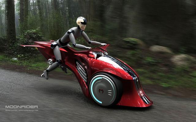 """画像: スターウォーズのスピーダーバイクより""""地に足がついた""""未来のバイクだが、、、「MoonRider」 - LAWRENCE(ロレンス) - Motorcycle x Cars + α = Your Life."""