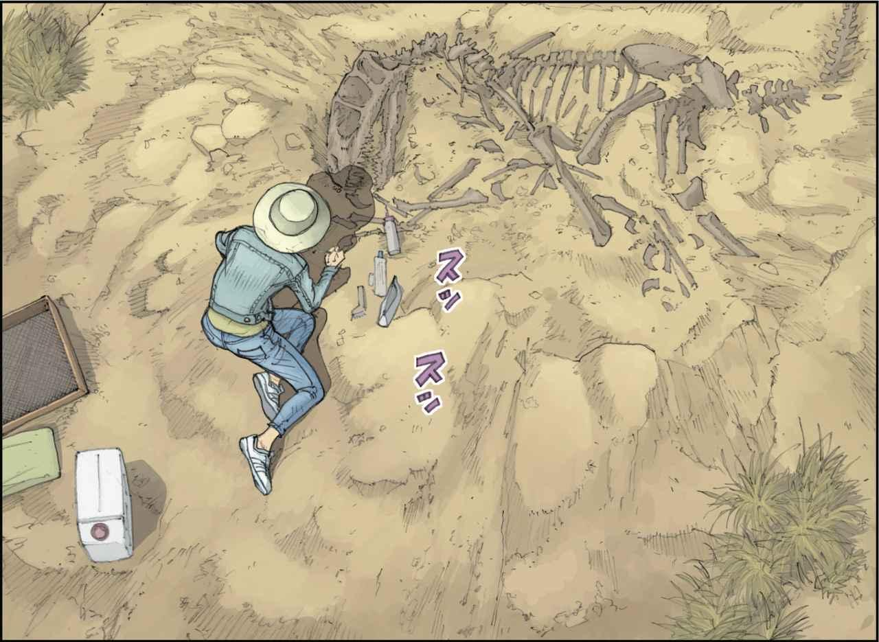 画像: 発掘作業は丁寧に、コツコツと。地味な作業だけど大好きなの。