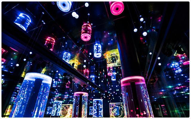 画像: Jellyfish Ramble/ゆらゆら漂うクラゲ達を「花火アクアリウム」バージョンの演出でお届け! www.aqua-park.jp