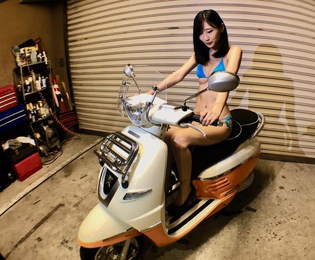 画像2: 【Beauty & Bike】璃彩と澪とプジョー ジャンゴ Vol.05