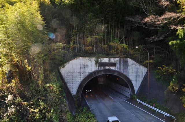 画像: 昭和34年に作られた新・宇津ノ谷隧道