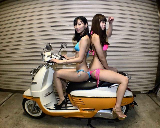 画像1: 【Beauty & Bike】璃彩と澪とプジョー ジャンゴ Vol.13