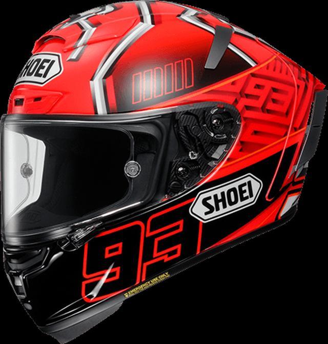 画像: SHOEIの「エックス - フォーティーン マルケス4」。メーカー希望小売価格は76,000円(税別)となります。 www.shoei.com