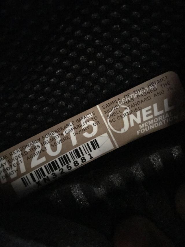 画像: ちゃんと、スネルM2015のシールが貼ってあってひと安心? なお製造年は2017年でした・・・。