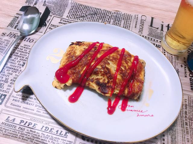 画像: 洋×和の挽肉オムレツ♪